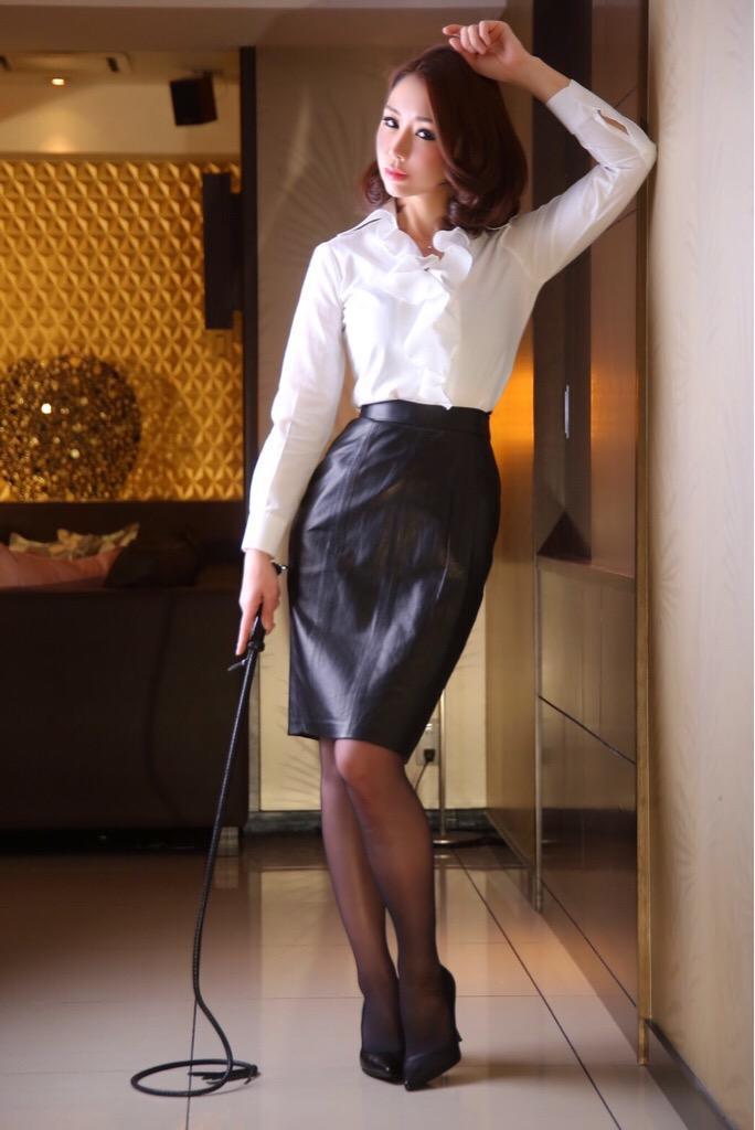 Skirt suit satin blouse panties clothed cum on blouse 2