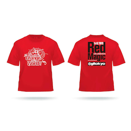 愛夢GLTOKYO Red Magic Tシャツ 赤(XXL)